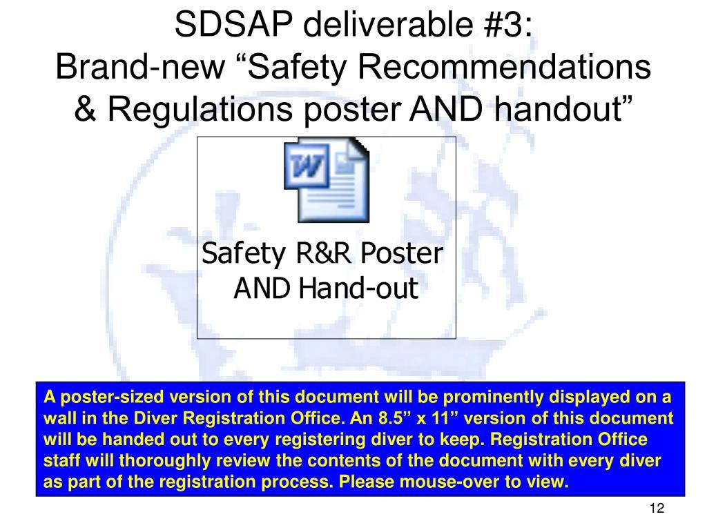 SDSAP deliverable #3: