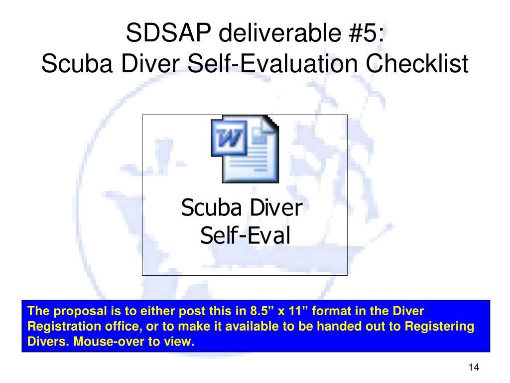 SDSAP deliverable #5: