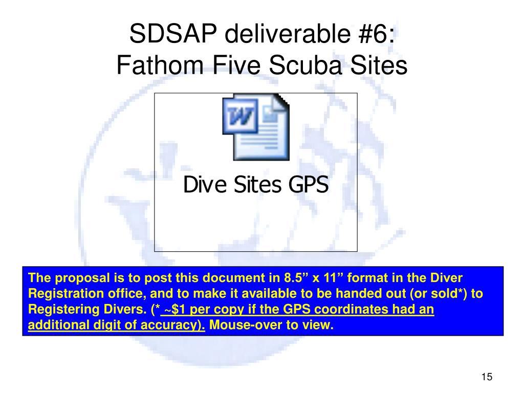 SDSAP deliverable #6: