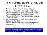 the 6 building blocks of fathom five s sdsap