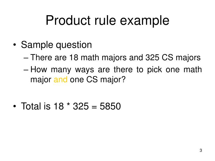 Product rule example
