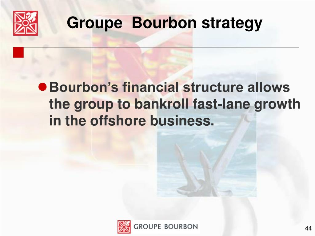 Groupe  Bourbon strategy