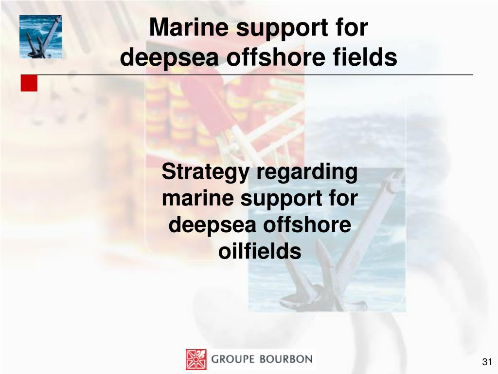 Marine support for