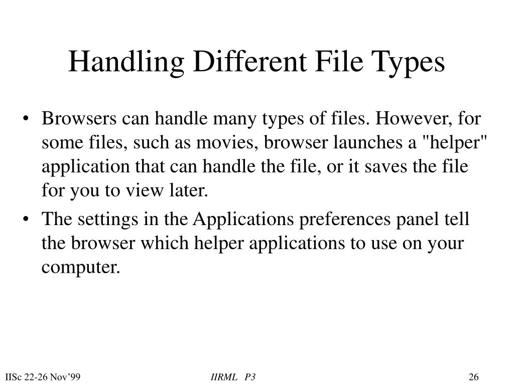 Handling Different File Types