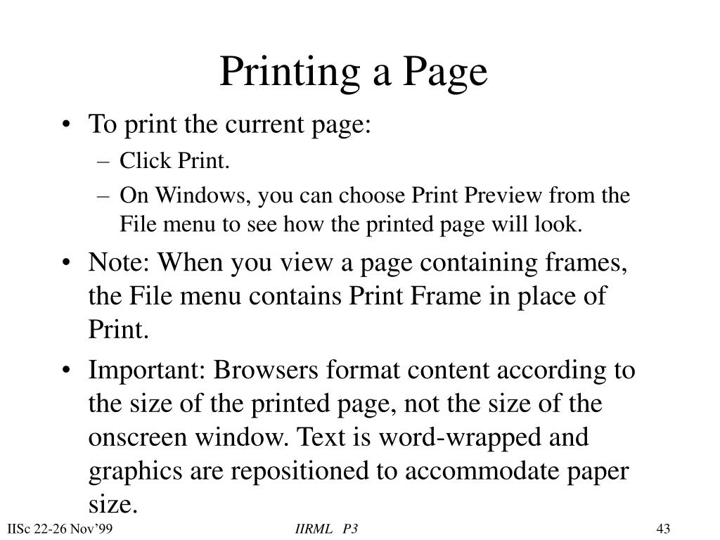 Printing a Page
