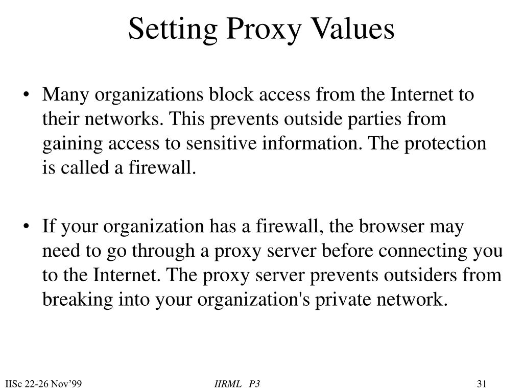 Setting Proxy Values