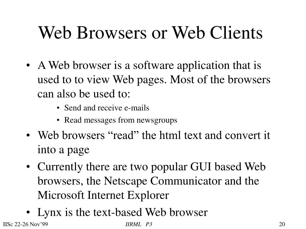 Web Browsers or Web Clients