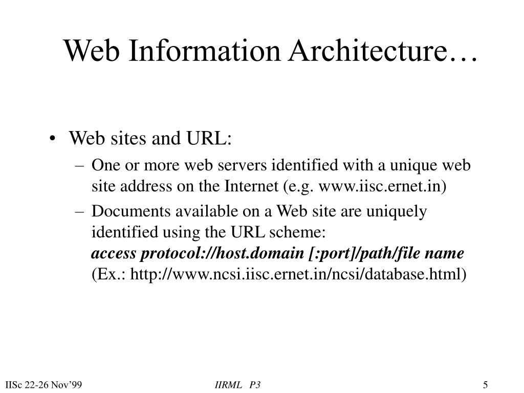 Web Information Architecture…