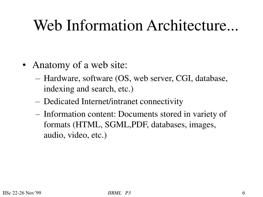 Web Information Architecture...