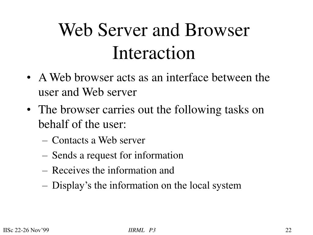 Web Server and Browser Interaction