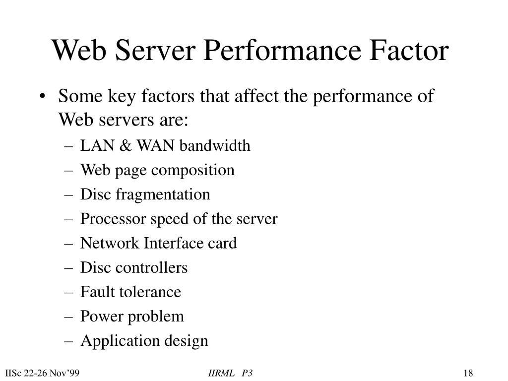 Web Server Performance Factor