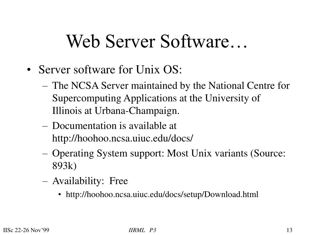 Web Server Software…