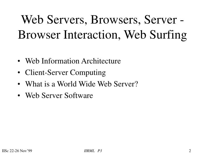 Web servers browsers server browser interaction web surfing2