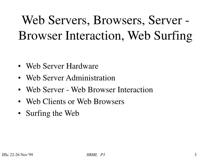 Web servers browsers server browser interaction web surfing3