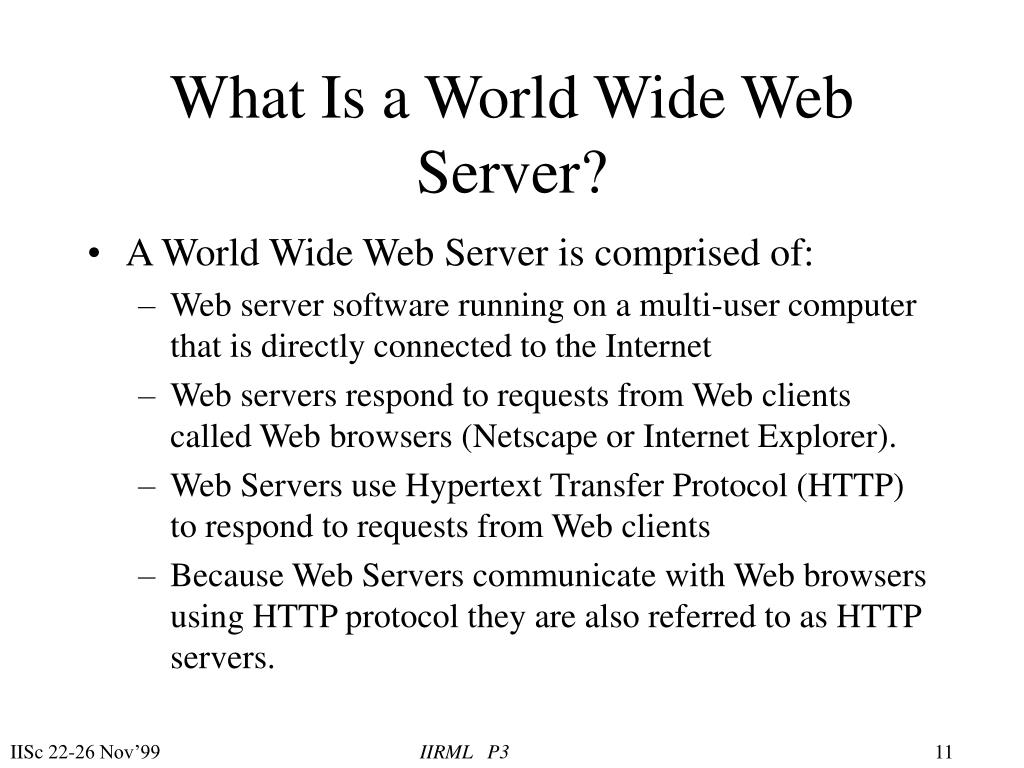 What Is a World Wide Web Server?
