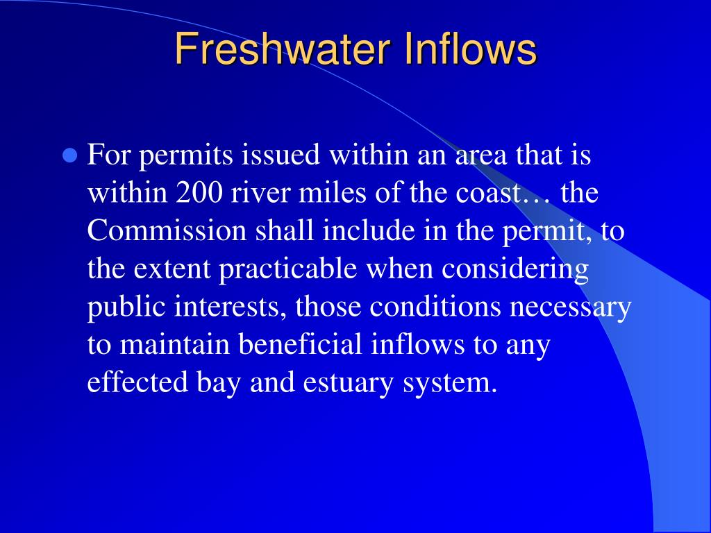 Freshwater Inflows