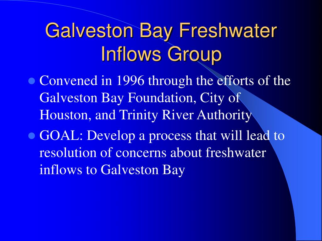 Galveston Bay Freshwater Inflows Group