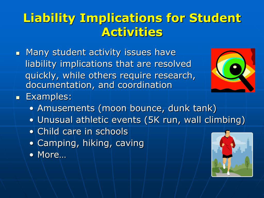 Liability Implications for Student Activities