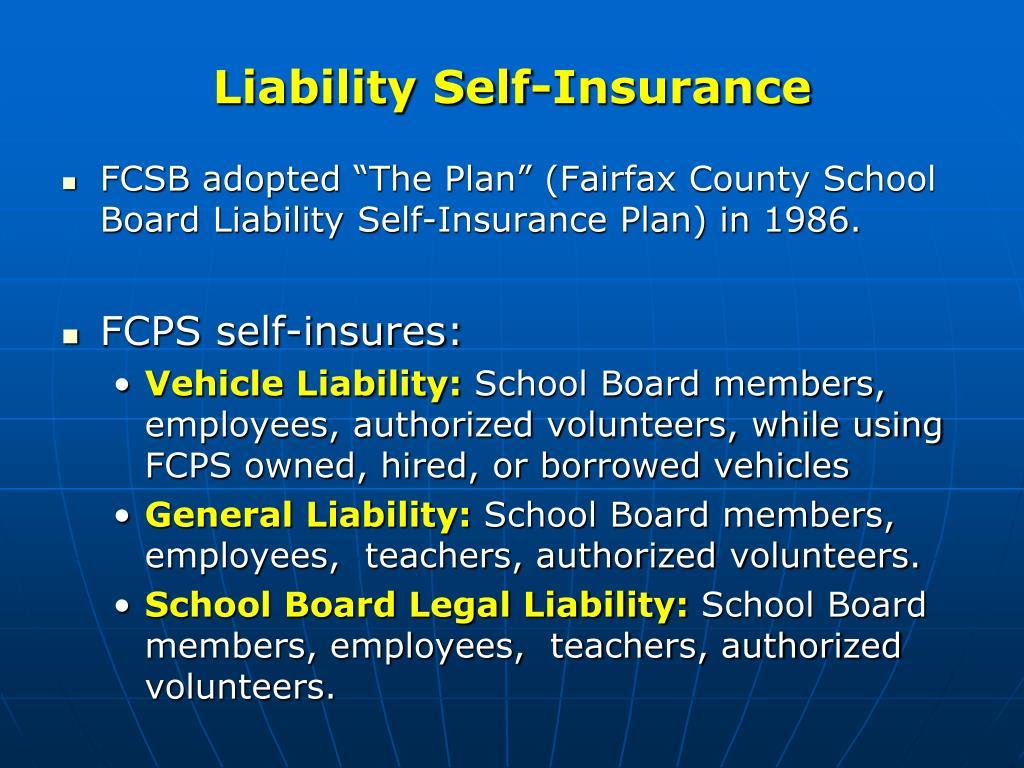 Liability Self-Insurance