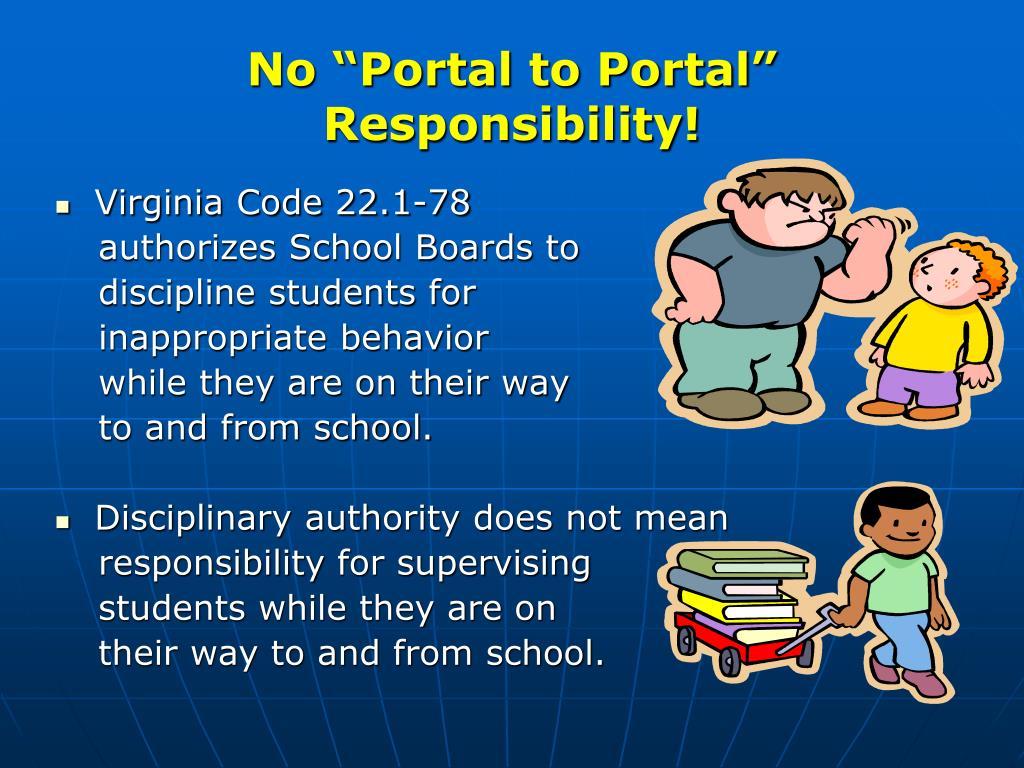 "No ""Portal to Portal"" Responsibility!"