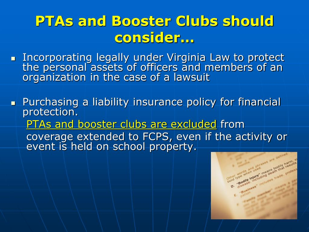 PTAs and Booster Clubs should consider…