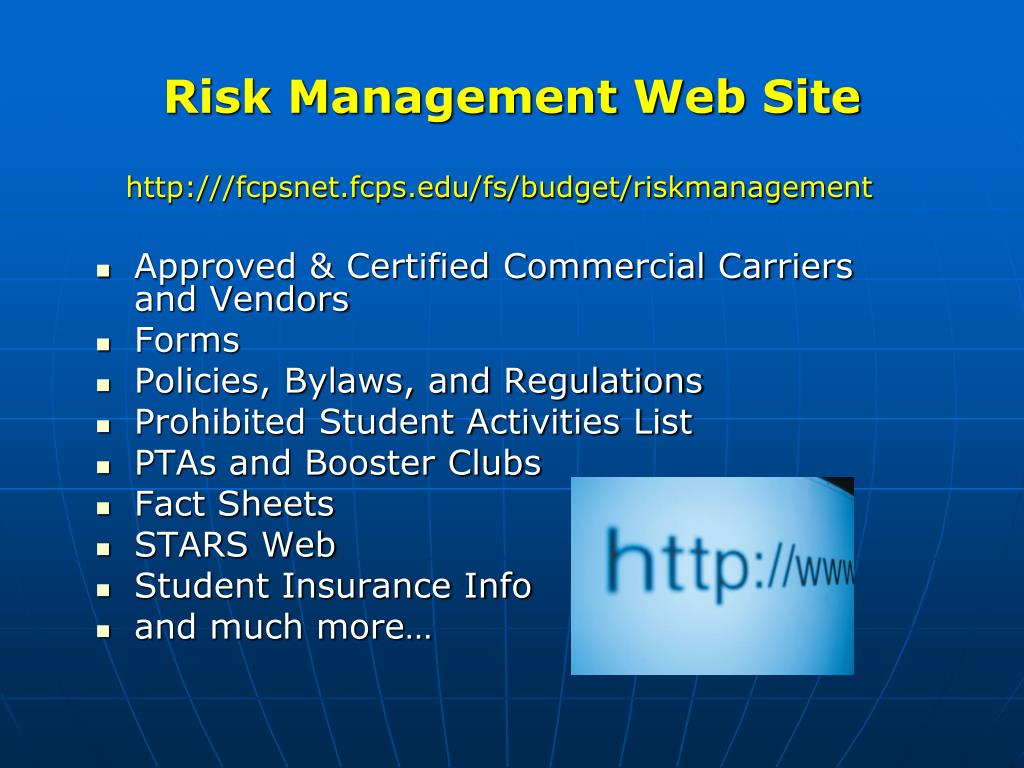 Risk Management Web Site