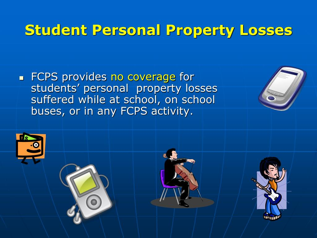 Student Personal Property Losses