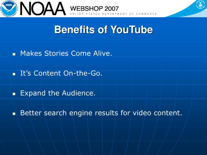 Benefits of YouTube