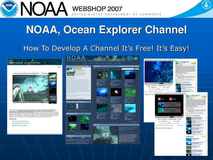 NOAA, Ocean Explorer Channel