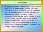 3 evaluation
