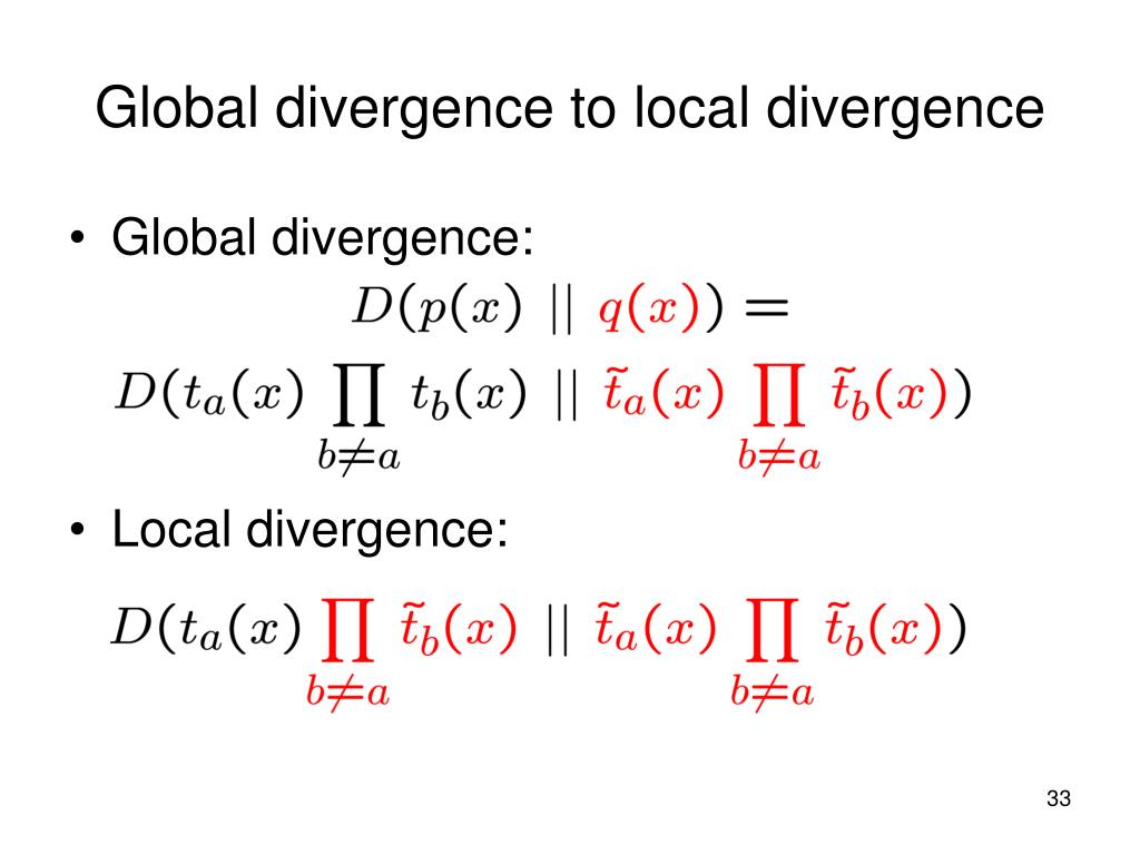 Global divergence to local divergence
