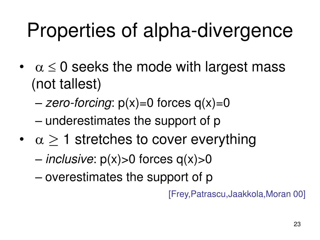 Properties of alpha-divergence