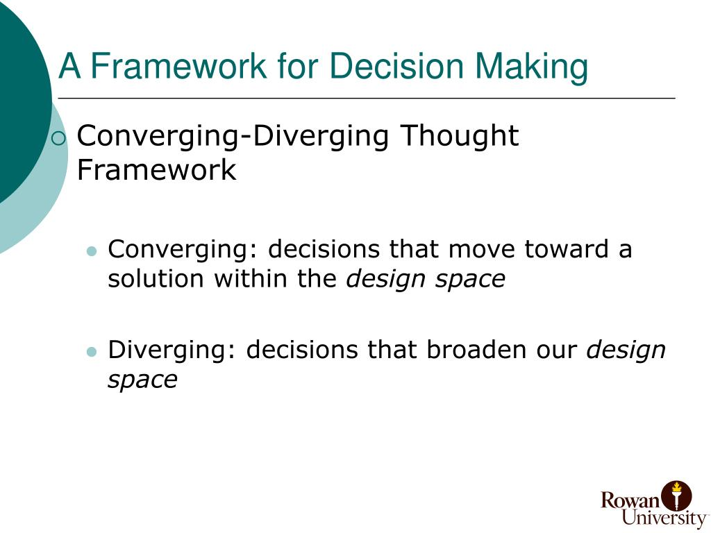 A Framework for Decision Making