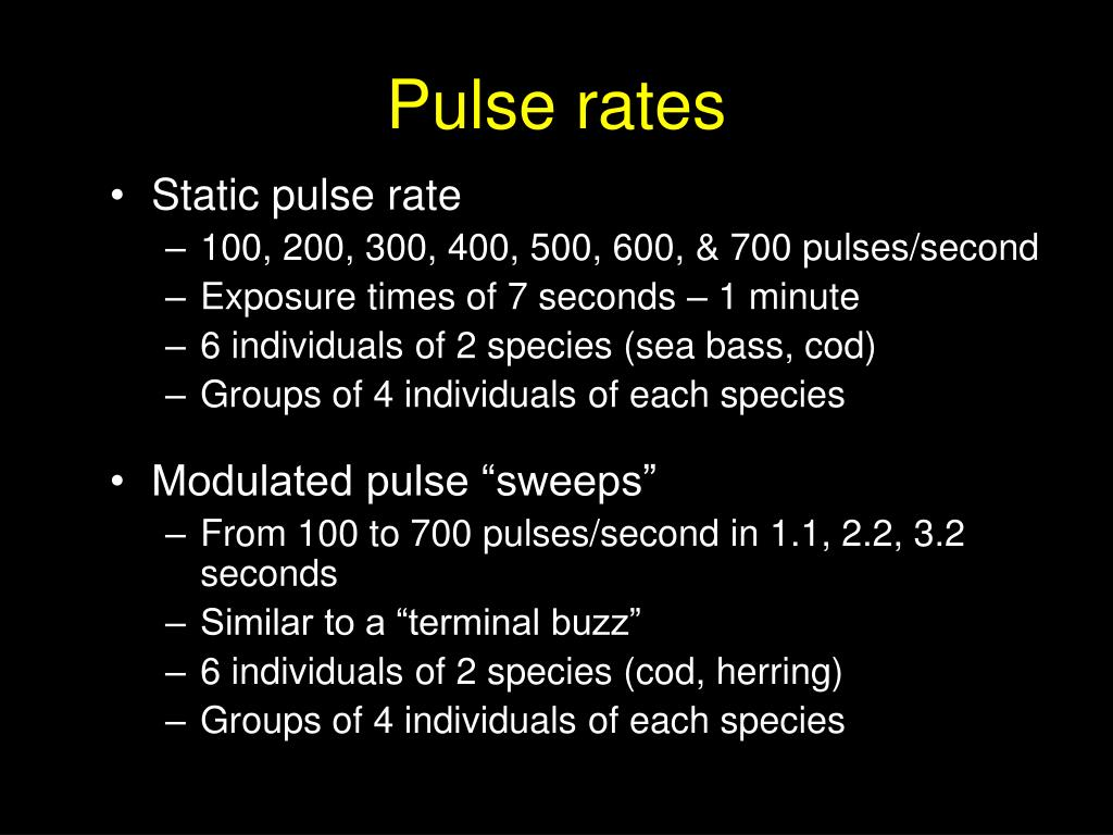 Pulse rates