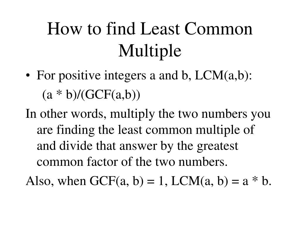 Calculator Soup Gcf Solving An Lcm Word Problem