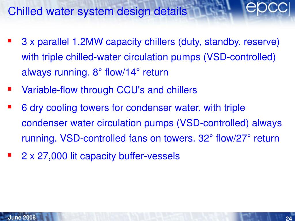 Chilled water system design details