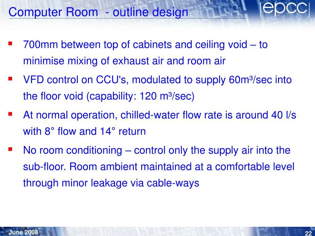 Computer Room  - outline design