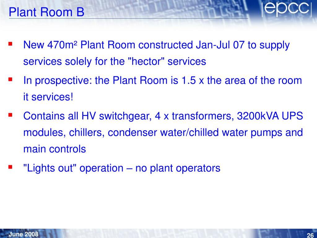 Plant Room B