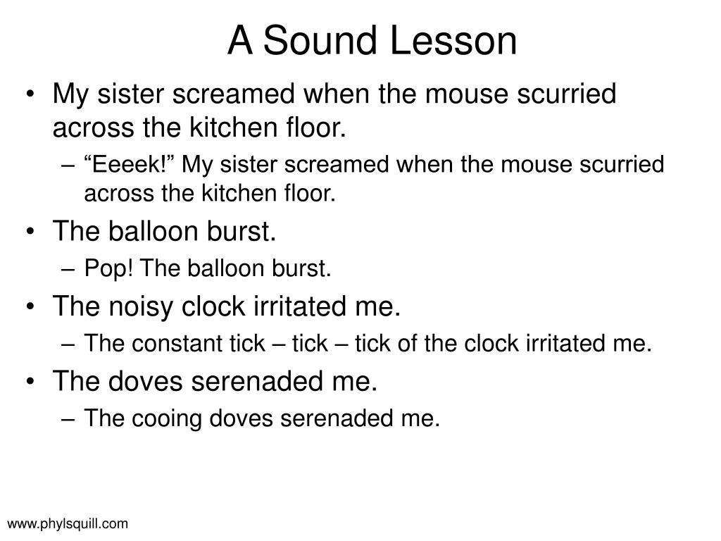 A Sound Lesson