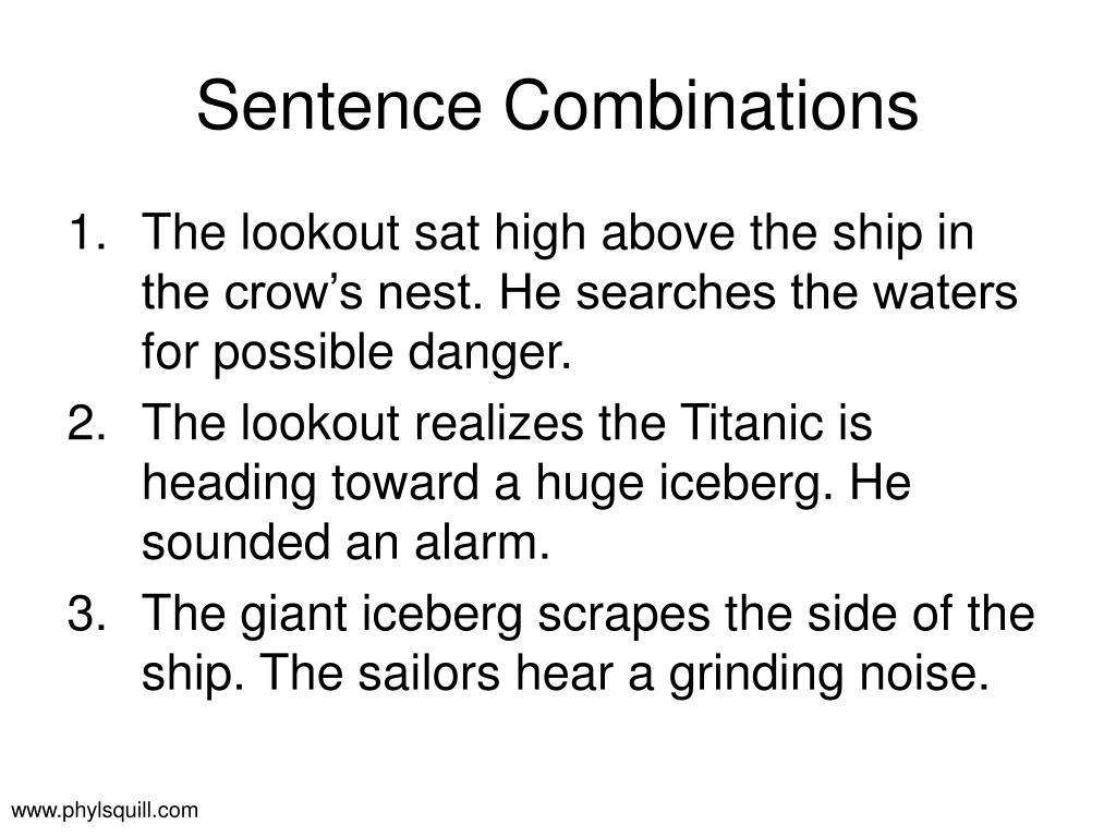 Sentence Combinations