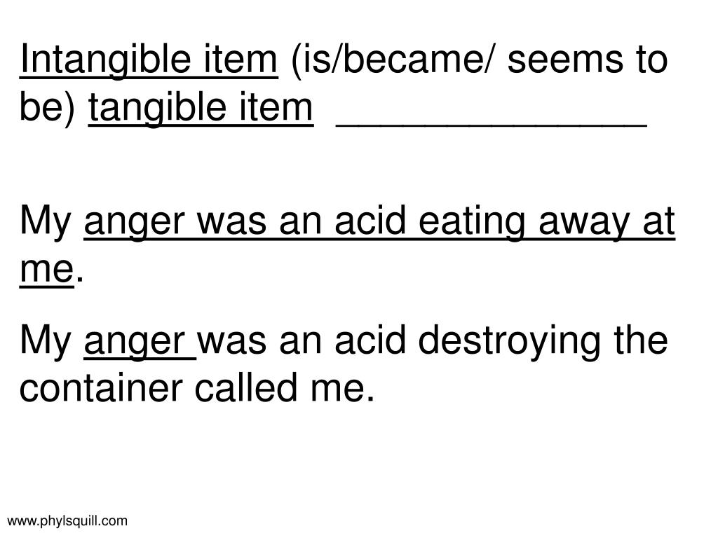 Intangible item