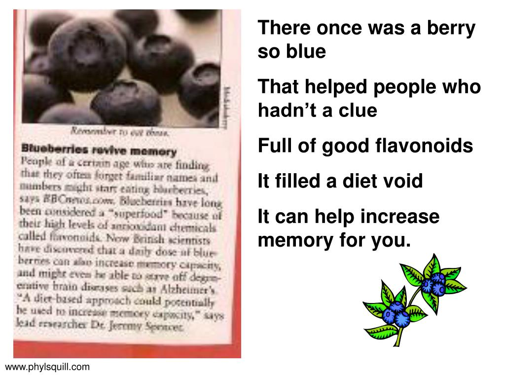 There once was a berry so blue