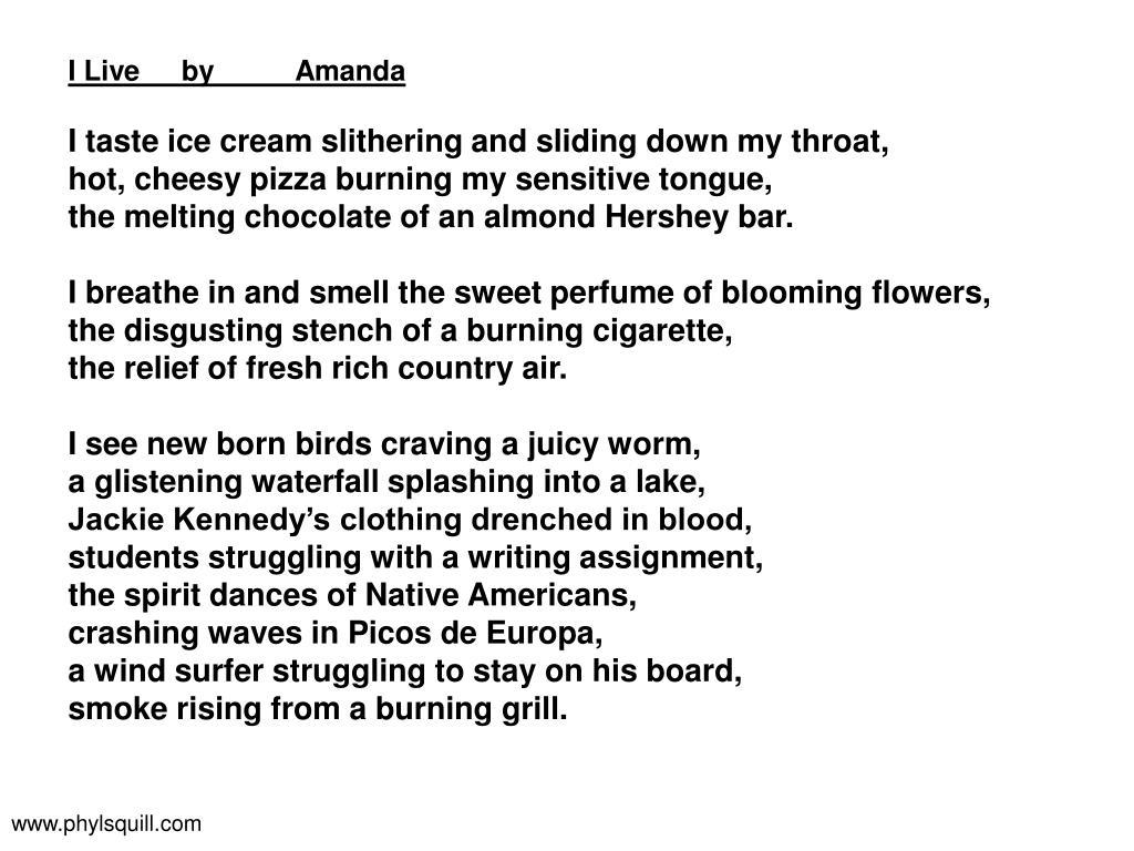 I Liveby Amanda