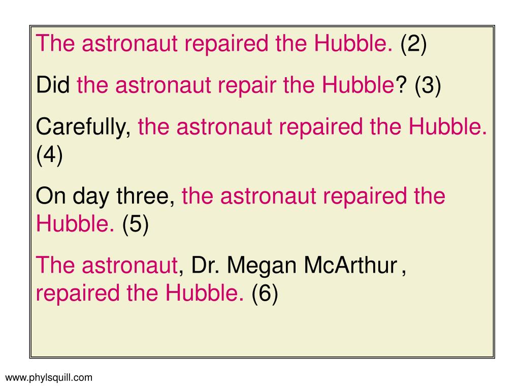 The astronaut repaired the Hubble.