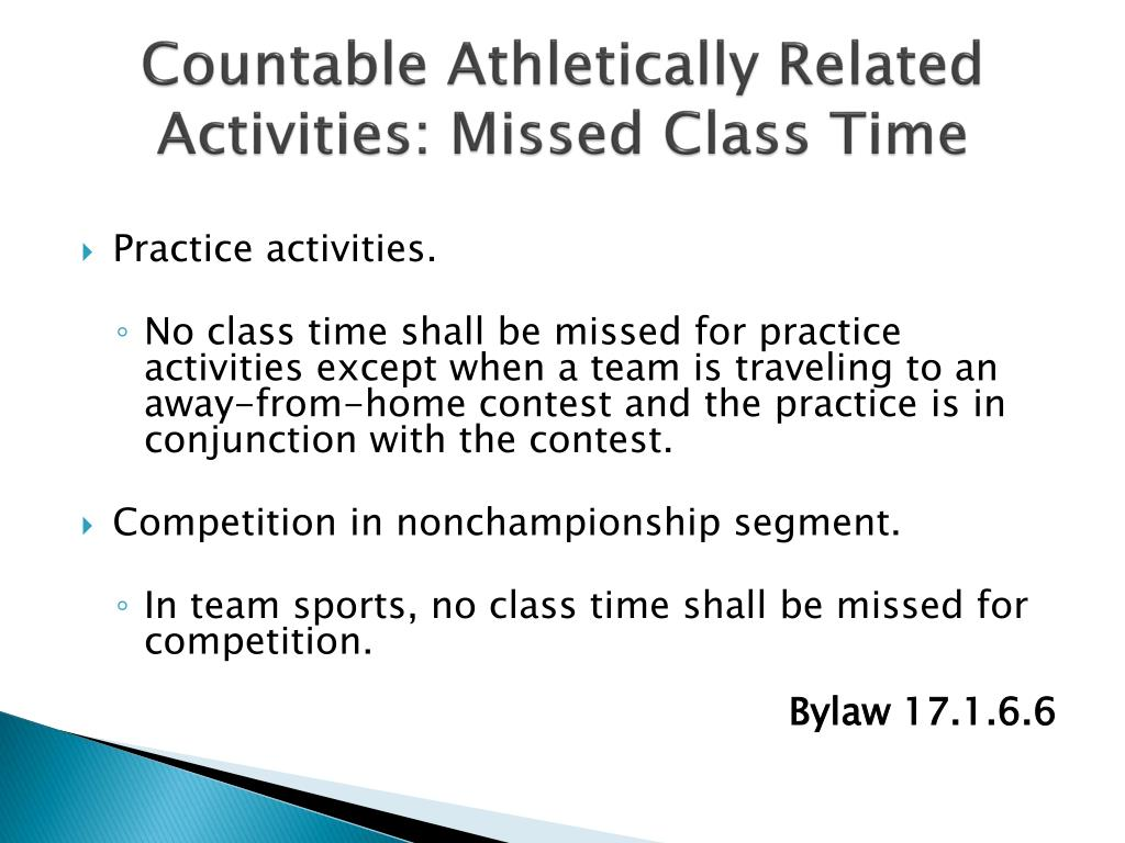 Countable Athletically Related Activities: Missed Class Time