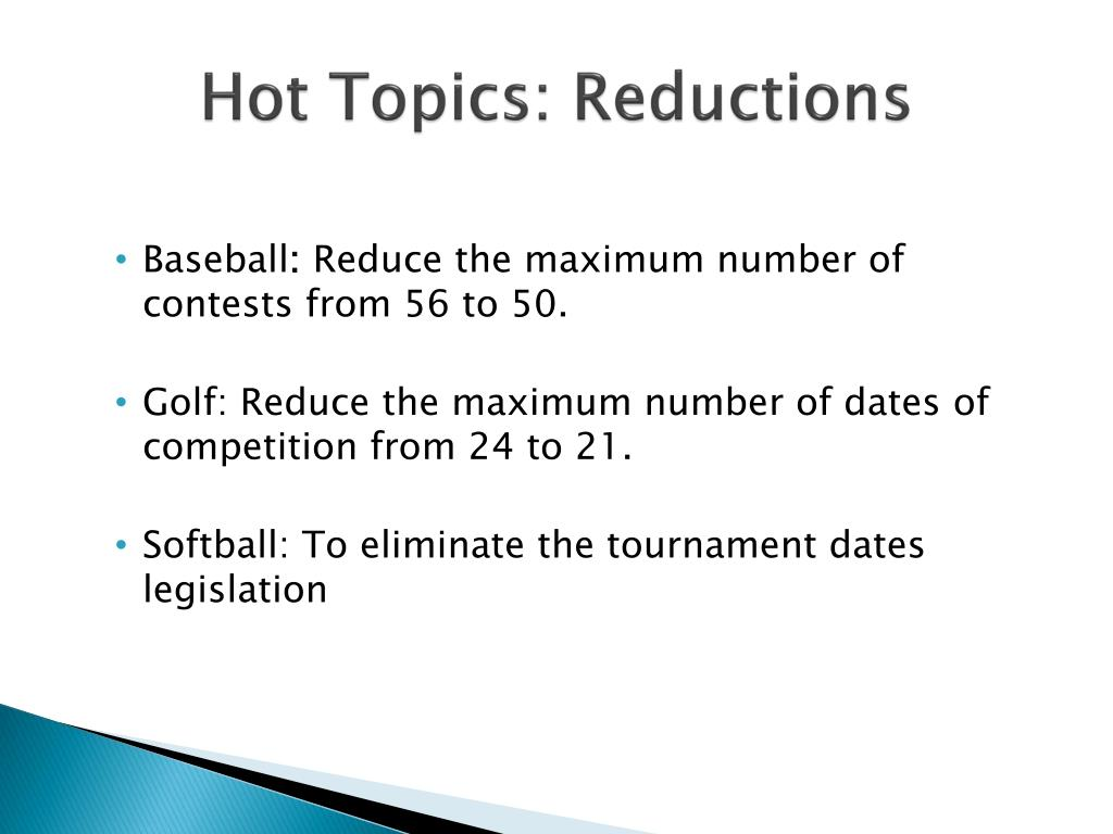 Hot Topics: Reductions