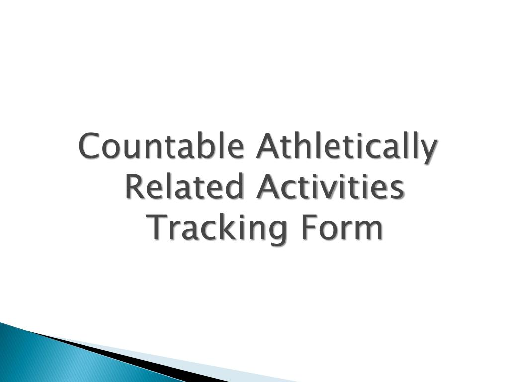 Countable Athletically Related Activities Tracking Form