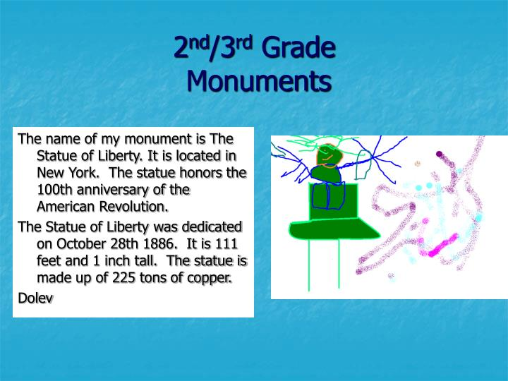 2 nd 3 rd grade monuments