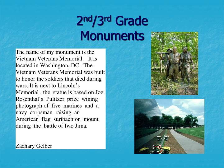 2 nd 3 rd grade monuments3