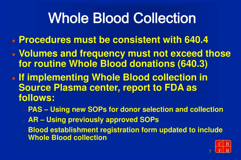 Whole Blood Collection